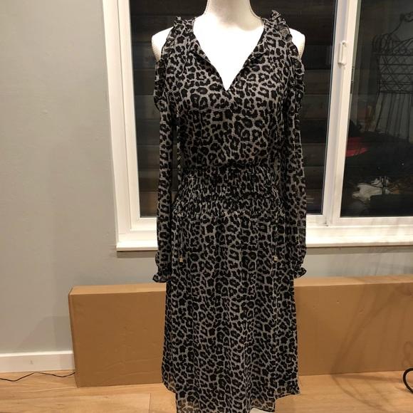 MICHAEL Michael Kors Dresses & Skirts - Michael Kors Black Leopard Print Peekaboo Dress
